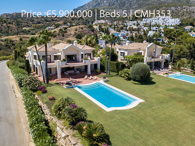 Marbella Hill Club villa for sale Price :€5.900.000 Beds 5
