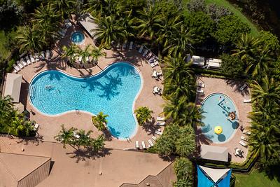 Marbella Lakes Pool Aerial