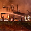 GREG SUKIENNIK -- MANCHESTER JOURNAL<br /> A massive fire swept through the Marbledge Lodge hotel on Route 7 in East Dorset early the morning of May 11, 2018. FIrefighters from Dorset, East Dorset, Danby and Mt. Tabor, Manchester and Arlington responded to the scene.