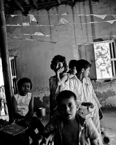 Niños en Esquela (Children in School) , Ajoya, Sinaloa, Mexico