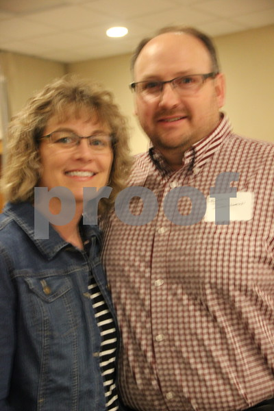 The Growth Alliance Annual Dinner was held at the Fort Dodge Starlite Inn, on Thursday, March 10, 2016. Pictured left to right is: Cindy DeWall and Dan DeWall.