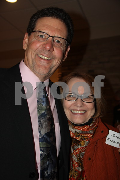 The Growth Alliance Annual Dinner was held at the Fort Dodge Starlite Inn, on Thursday, March 10, 2016. Seen here left to right is: Eric Pearson and Shari Fitzgerald.