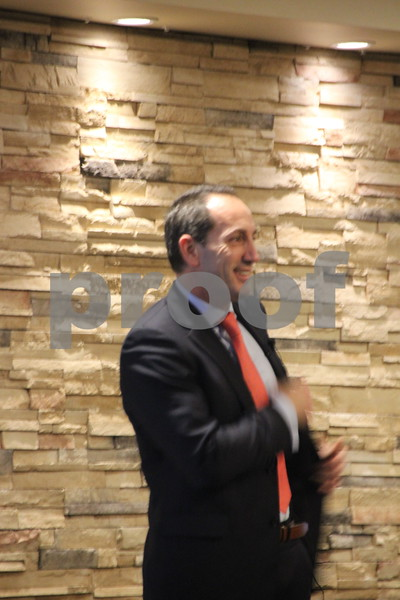 The Growth Alliance Annual Dinner was held at the Fort Dodge Starlite Inn, on Thursday, March 10, 2016. Pictured here is: Paul Trombino, who was the guest speaker at the event.