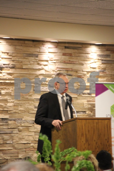The Growth Alliance Annual Dinner was held at the Fort Dodge Starlite Inn, on Thursday, March 10, 2016. Pictured is: Dennis Plautz, who introduced the guest speaker at the event.