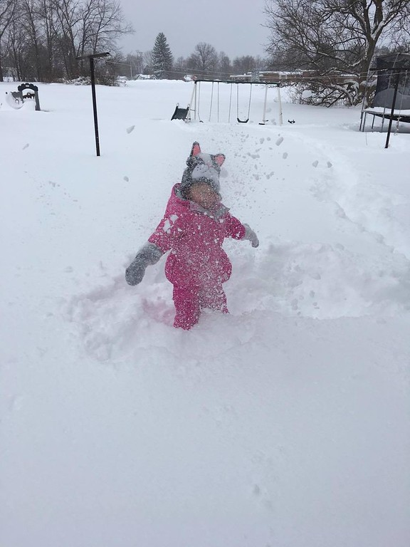 . Photo Courtesy Danielle Brown Snow day fun in Durhamville on Wednesday, March 15, 2017.