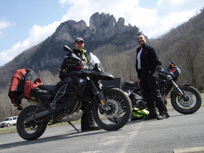 Jon and I, again, at Seneca Rocks (photo by Jon)