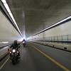 """Under the Chesapeake Bay in the """"Brunnel"""" - Bay Bridge Tunnel."""