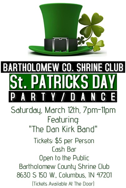 March 2016 Bartholomew Shrine Club St. Patricks Day