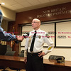 032316   Wesley Bunnell | Staff<br /> <br /> Police responded to a request by New Britain High School security for help involving fights just before dismissal time.  Police Chief James Wardwell gave a press conference at police headquarters.