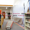 032416   Wesley Bunnell | Staff<br /> <br /> Repairs are almost complete at the Berlin Peck Library with a re opening planned for March 28th.  A plastic sheeting and ladder are one of the few items remaining indicating repairs to the library.