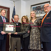 032216   Wesley Bunnell | Staff<br /> <br /> Veteran Ron Farina completed his studies & received his diploma 50 years after leaving CCSU for the Marine Corps & Vietnam.  From L Senator Blumenthal, Michael Farina, wife Dee Farina, Associate Professor Mary Collins & CCSU President Dr. Jack Miller.