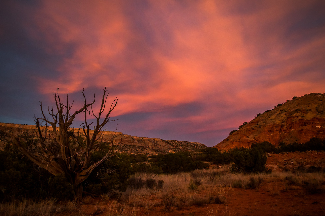 Evening Glow at Palo Duro Canyon.