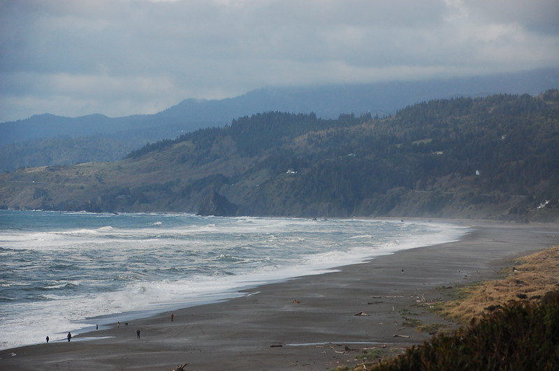 Beach along the Hwy 101 near the town of Gold Beach, OR.