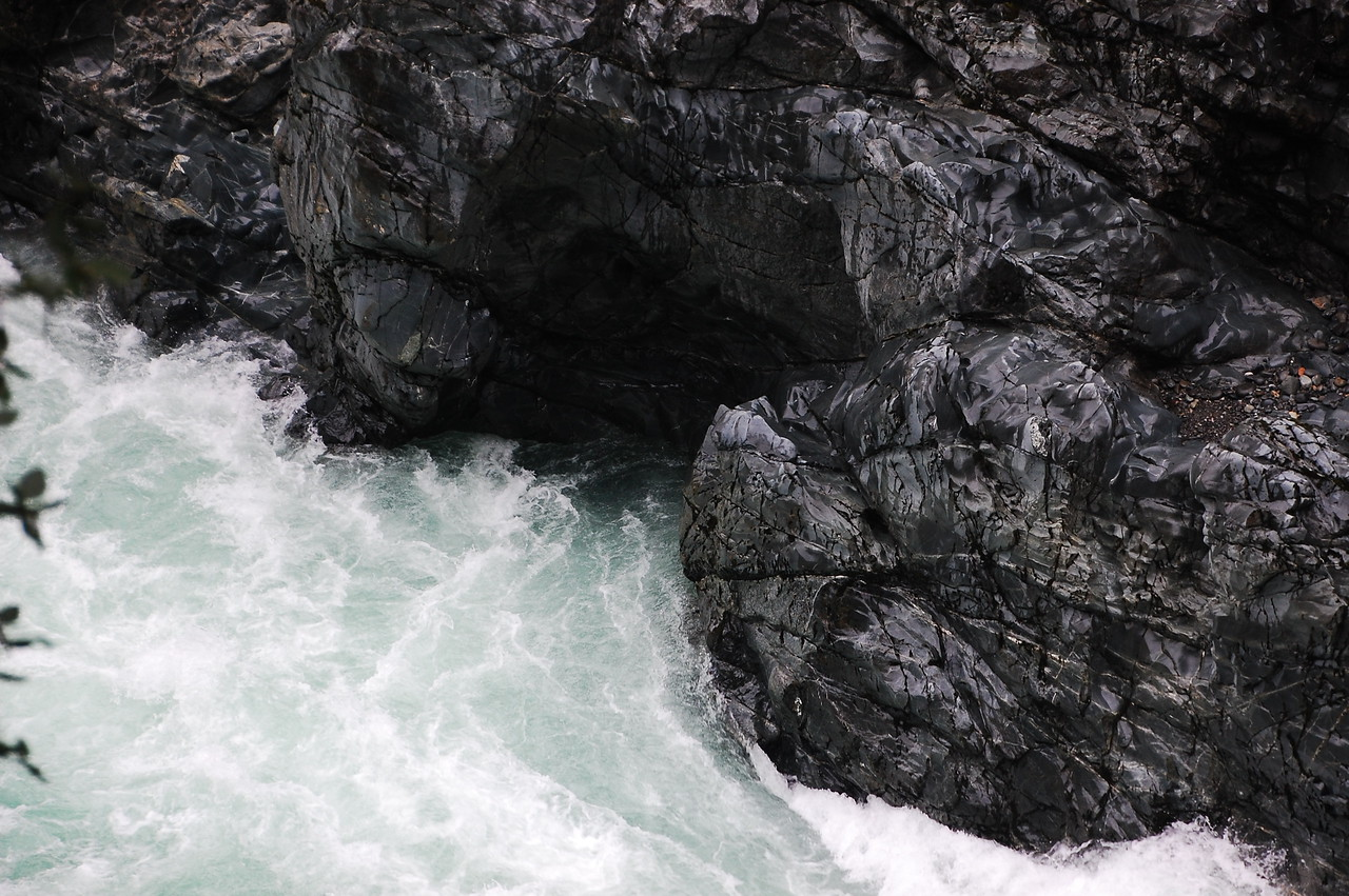 I love the rocks and the way they have eroded from the force of the water.