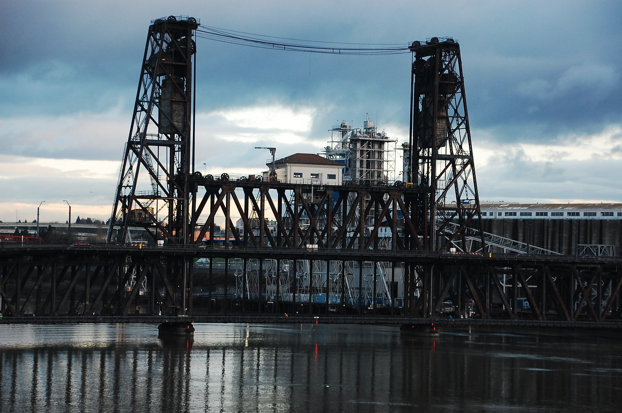 Drawbridge in Portland.  There are a lot of drawbridges in the PNW, most rivers are navigable and there are some BFS (big fucking ships) that use them.