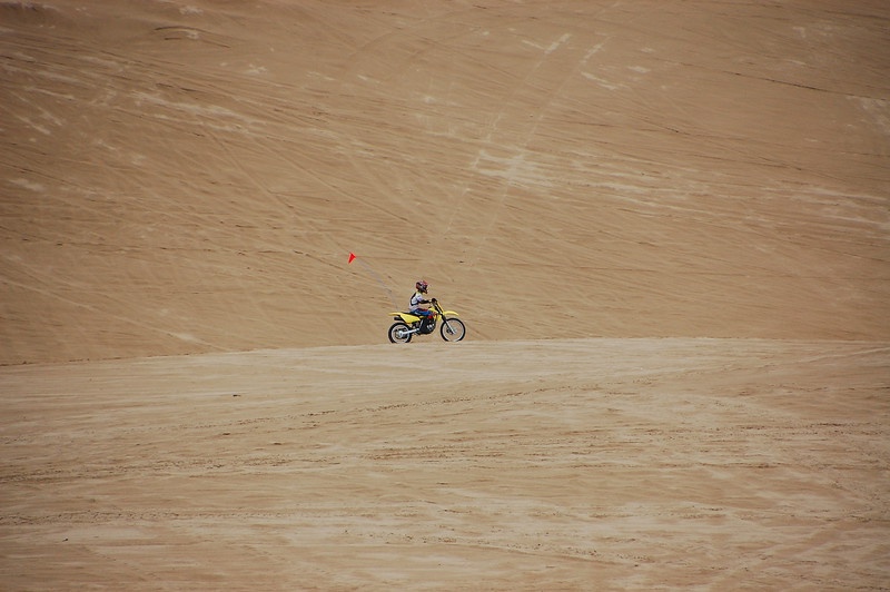 Random kid tearing up the dunes... good fun!