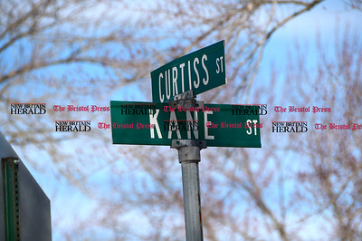 3/16/2017 Mike Orazzi | Staff The intersection of Hart Street, Kane Street and Curtiss Street in Southington is going to be changed.