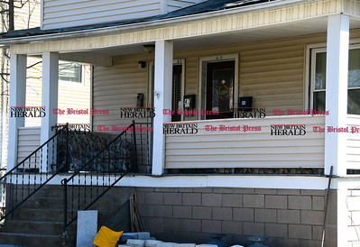 3/9/2017 Mike Orazzi | Staff Man accidentally shoots gun in friend's home, hits neighbor's home on Gridley Street in Bristol.