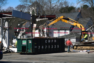 3/9/2017 Mike Orazzi | Staff Plymouth has demolished the old Mayfair Garage on Route 6 and is planning to demo the house next to it soon.