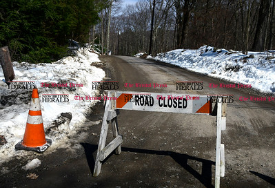 3/21/2017 Mike Orazzi | Staff A closed Reservoir Road in Harwinton after the body of an infant was discovered in Bristol's Reservoir Number 4 Tuesday.