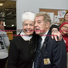 032317  Wesley Bunnell   Staff<br /> <br /> Peter Spano, a WWII Navy Veteran, celebrated his 90th at Tunis Community College where is taking classes on March 22, 2017 with fellow veteran students and faculty. School president Dr. Cathryn Addy poses with Peter Spano as students Jamaly Rios, Deedee Rodriguez and Amber Humphrey do their best to distract them in the background.