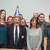032317  Wesley Bunnell   Staff<br /> <br /> Peter Spano, a WWII Navy Veteran, celebrated his 90th at Tunis Community College where is taking classes on March 22, 2017 with fellow veteran students and faculty. From left, Amber Humphrey, Deedee Rodriguez, Peter Spano, Jamaly Rios, Professor and veteran's mentor Karen DeBari & Darren Heckman.