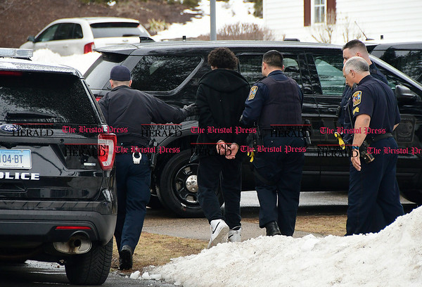 3/24/2017 Mike Orazzi   Staff Bristol Police on scene of a disturbance at a group home on Birch Street around 1:30pm Friday.