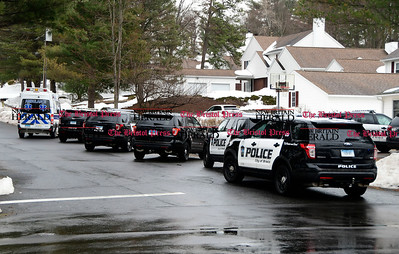 3/24/2017 Mike Orazzi | Staff Bristol Police on scene of a disturbance at a group home on Birch Street around 1:30pm Friday.