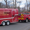033017  Wesley Bunnell | Staff<br /> <br /> Plainville Police Department's All Terrain Fire & Rescue Unit arrives at the scene on Loon Lake Road to aid in the search for missing hiker Arthur Williams who was been missing since Saturday.