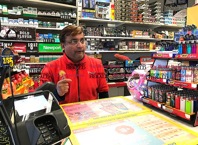 3/29/2017 Mike Orazzi | Staff  Mohammed Islam talks about being robbed at the Shell gas station on Middle Street in Bristol Wednesday morning.