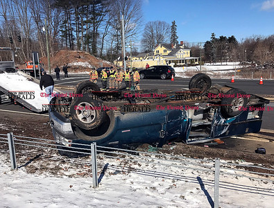 3/11/2017 Mike Orazzi   StaffThe scene of a two crash at the intersection of Route 72 and Lincoln Avenue in the Forestville section of Bristol Saturday morning.