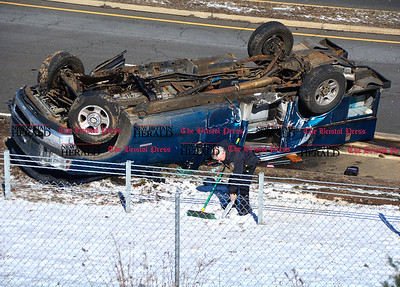 3/11/2017 Mike Orazzi   Staff The scene of a two crash at the intersection of Route 72 and Lincoln Avenue in the Forestville section of Bristol Saturday morning.