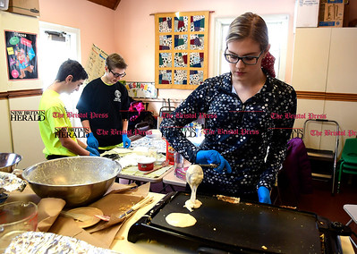 3/11/2017 Mike Orazzi | Staff BoDehn Wicklund during an all you can eat pancake breakfast and maple sugaring event organized by the New Britain Youth Museum Saturday morning in Berlin.