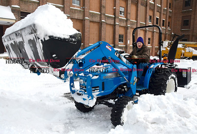 3/15/2017 Mike Orazzi | Staff Bill Allread digs out Wednesday with his LS G3038 tractor on South Main Street in Terryville after Tuesday's snow fall.