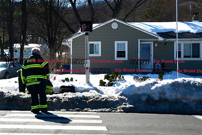 3/17/2017 Mike Orazzi | Staff Bristol firefighters on scene on King Street after a problem with a furnace Friday afternoon.