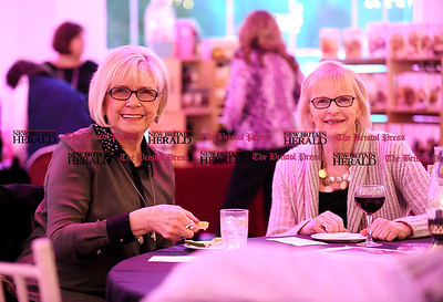 3/8/2016 Mike Orazzi | Staff Century 21 AllPoints Realty 's Joanne Alfieri and Martha Nilsson, during the Southington Chamber of Commerce's Ladies Night at the Aqua Turf Club Tuesday night.