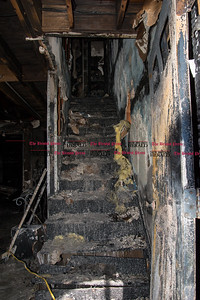 031717  Wesley Bunnell | Staff  The first floor area of 220 Lasalle St. unit B6 in New Britain is shown where a fire broke out early in the morning of March 17, 2017.