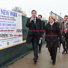 032817  Wesley Bunnell | Staff<br /> <br /> Governor Dannel Malloy marked the 2nd anniversary of CT Fastrak on March 28, 2017. The governor rode from Union Station in Hartford to Elmwood Station in West Hartford where a ceremony was held at the adjacent 616 New Park which is under construction as a mixed use transit-oriented development project. Governor Malloy walks towards 616 New Park from Elmwood Station.
