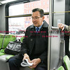 032817  Wesley Bunnell | Staff<br /> <br /> Governor Dannel Malloy marked the 2nd anniversary of CT Fastrak on March 28, 2017. The governor rode from Union Station in Hartford to Elmwood Station in West Hartford where a ceremony was held at the adjacent 616 New Park which is under construction as a mixed use transit-oriented development project.  Governor Malloy just prior to leaving Union Station.