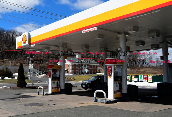 3/29/2017 Mike Orazzi | Staff Shell gas station on Middle Street in Bristol.
