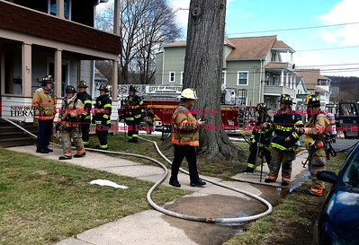 3/29/2017 Mike Orazzi | Staff Thursday afternoon may have been fire caused by an alleged drug factory explosion on Harrison Street.
