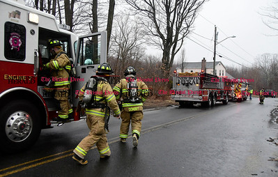 3/31/2017 Mike Orazzi | Staff Members of the Terryville Fire Department on scene of a problem with a chimney on Scott Road Friday morning.  No more information was available.