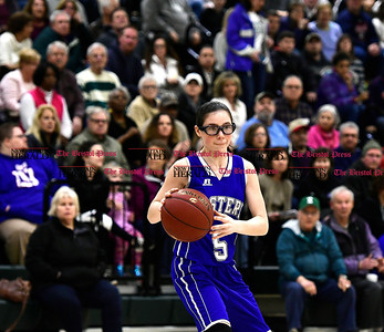 3/3/2017 Mike Orazzi | Staff Bristol Eastern's Miranda Janick (5) during the Class LL Second Round Girls Basketball game with Enfield.