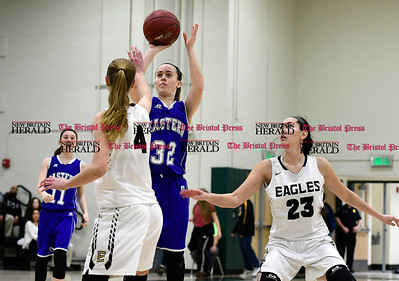 3/3/2017 Mike Orazzi | Staff Bristol Eastern's Jillian LeBeau (32) during the Class LL Second Round Girls Basketball game with Enfield.