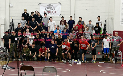 3/4/2017 Mike Orazzi | Staff Participants  in the Pushups for Patriots, a 24-hour exercise marathon fundraising event for the Semper Fi Fund starting Saturday morning and continuing to Sunday morning.