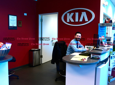 3/8/207 Mike Orazzi | Staff Crowley Auto Group Service Consultant Daniel Flansbury at the Kia location in Bristol.
