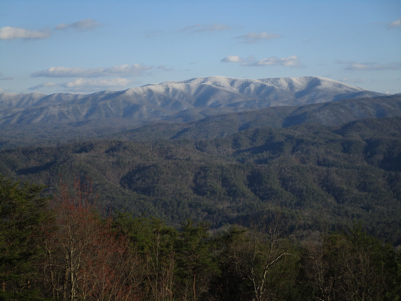 View of the Smokies from Foothills Parkway.