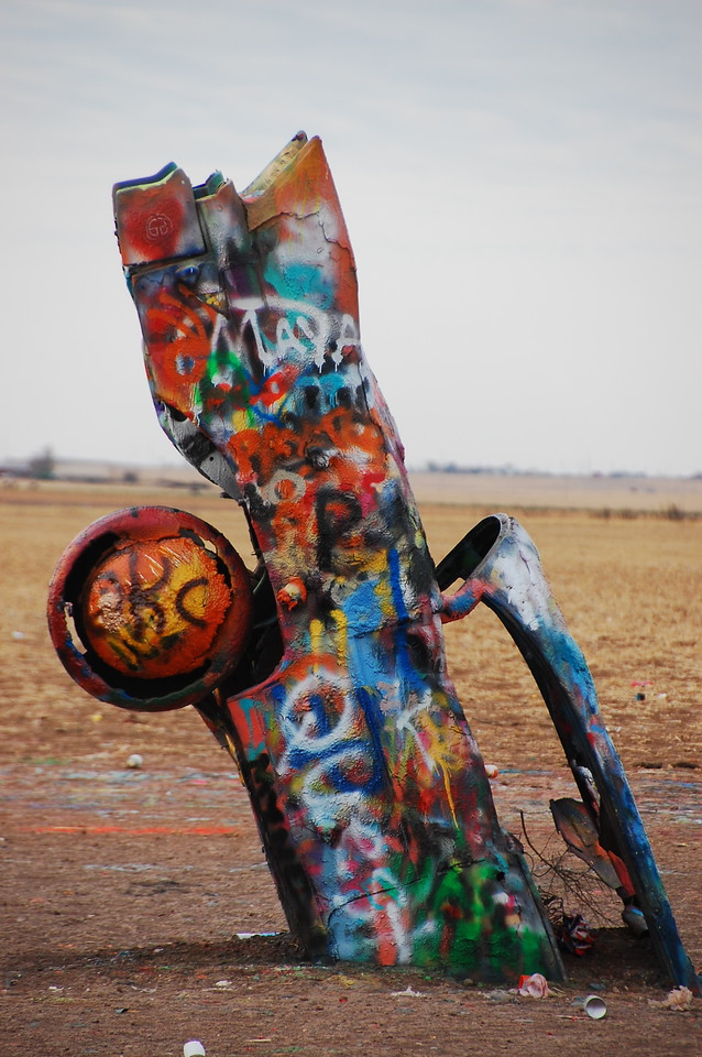 Cadillac Ranch.  <br /> <br /> You know what's fucked up?  I gave the ancient civilization of the Sinagua cliff-dwellers TWO photos and I gave Cadillac Ranch THREE photos.