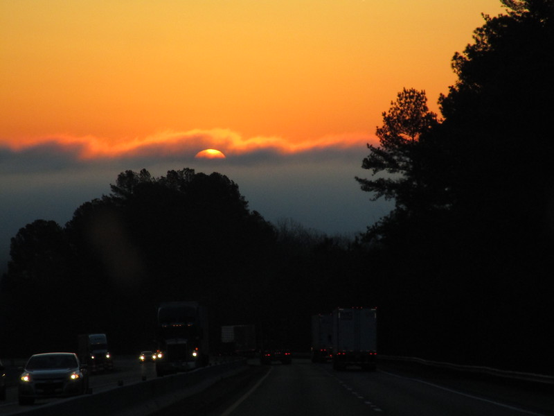 RFS #4<br /> <br /> Rolling straight east, I get a nice view of the sunrise every morning.