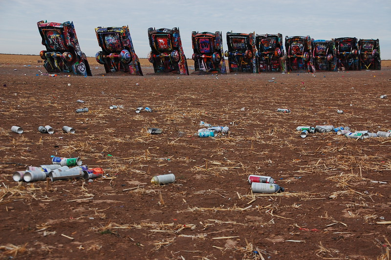 Heading west again, now on the morning of day 3, I stopped at Cadillac Ranch near Amarillo.